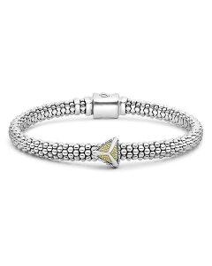ラゴス レディース ブレスレット・バングル・アンクレット アクセサリー Sterling Silver & 18K Yellow Gold KSL Pyramid Bracelet Gold/Silver