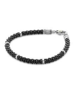 ラゴス レディース ブレスレット・バングル・アンクレット アクセサリー Black Caviar Ceramic Sterling Silver and 18K Gold Bracelet Black/Silver