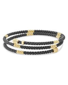 ラゴス レディース ブレスレット・バングル・アンクレット アクセサリー Gold & Black Caviar Collection 18K Gold & Ceramic Coil Bracelet Black/Gold