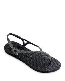 ハワイアナス レディース サンダル シューズ Women's Luna Premium Glitter Slingback Flip-Flops Black/Dark
