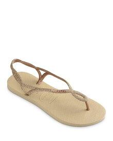 ハワイアナス レディース サンダル シューズ Women's Luna Premium Glitter Slingback Flip-Flops Sand Gray