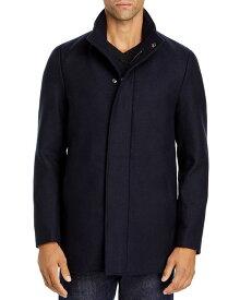 セオリー メンズ ジャケット・ブルゾン アウター Clarence Traceable Wool Blend Melton Coat Eclipse