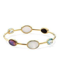 イッポリスタ レディース ブレスレット・バングル・アンクレット アクセサリー 18K Yellow Gold Rock Candy Luce 6-Stone Bangle Bracelet in Blu Notte Multi/Gold
