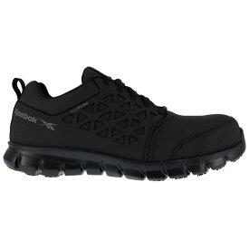 リーボック メンズ ブーツ・レインブーツ シューズ Sublite Cushion Work with Exofuse Slip Resistant Composite Toe Work Shoes Black