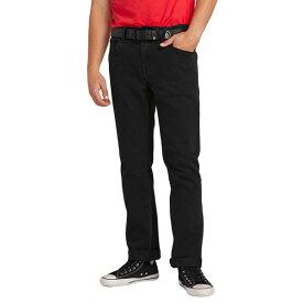 ボルコム メンズ デニムパンツ ボトムス Volcom 'Solver' Straight Leg Jeans Blackout