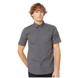 ボルコム メンズ シャツ トップス Everett Solid Short Sleeve Asphalt Black