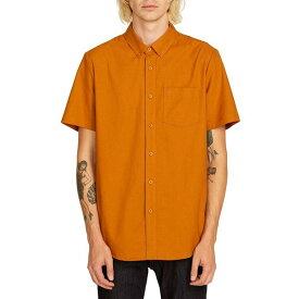 ボルコム メンズ シャツ トップス Everett Oxford Short-Sleeve Shirt Camel