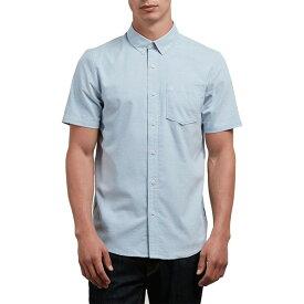 ボルコム メンズ シャツ トップス Everett Oxford Short-Sleeve Shirt Wrecked Indigo