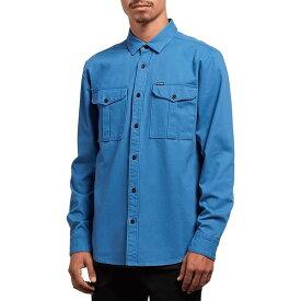 ボルコム メンズ シャツ トップス Huckster Shirt Used Blue
