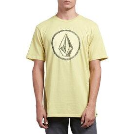 ボルコム メンズ Tシャツ トップス Classic Stone T-Shirt Acid Yellow