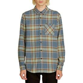 ボルコム メンズ シャツ トップス Caden Plaid Shirt Indigo