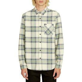 ボルコム メンズ シャツ トップス Caden Plaid Shirt Off White