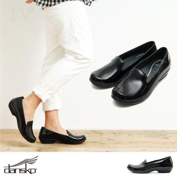 DANSKO ダンスコ オリビア OLIVIA レディース 靴 シューズ フラットシューズ パテントレザー エナメル 健康靴 コンフォートシューズ ブラック