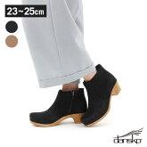 DANSKO(ダンスコ)/マリア【MARIAレディース靴シューズヌバック本革ブーツショートブーツヒールブラックブラウン】