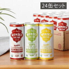 コンブチャワンダードリンク 1箱(24缶)セット 250ml KOMBUCHA WONDER DRINK 賞味期限/2021年1月31日 ※返品・交換不可