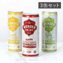 コンブチャワンダードリンク 3缶セット KOMBUCHA WONDER DRINK ※返品・交換不可