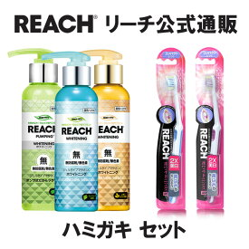 歯磨きセット ポンプ式 ホワイトニング EX 歯ブラシ REACH リーチ フッ素