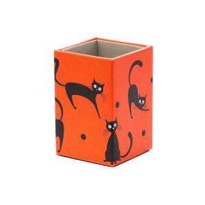 猫柄 眼鏡置き メガネスタンド ねこ(大柄) レッド