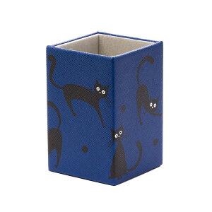 猫柄 眼鏡置き メガネスタンド ねこ(大柄) ブルー
