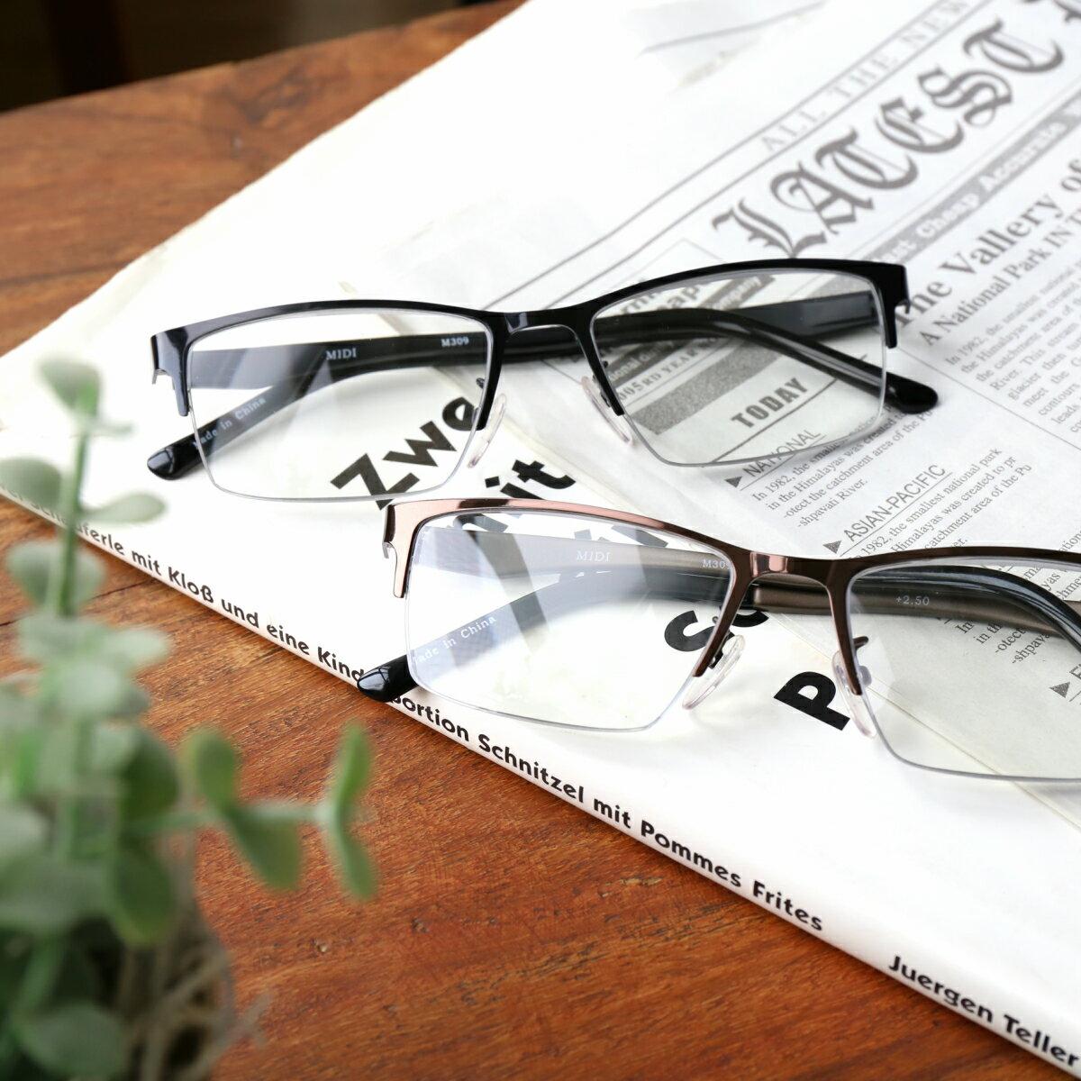 【送料無料・無料返品可能】 老眼鏡 男性 おしゃれ ブルーライトカット ブルーライト リーディンググラス シニアグラス(M-309)選べる3カラー 男性用 老眼鏡