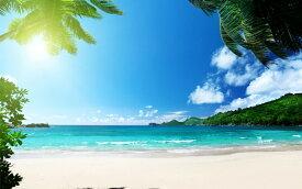 絵画風 壁紙ポスター (はがせるシール式) トロピカル ビーチ バリ島 インドネシア 海 キャラクロ BCH-052W2 (ワイド版 603mm×376mm) 建築用壁紙+耐候性塗料 インテリア