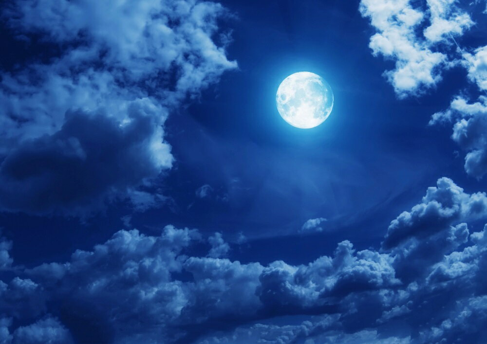 【売れ筋】絵画風 壁紙ポスター (はがせるシール式) 月 スーパームーン Super Luna 満月の夜 天体 神秘 癒し キャラクロ MON-008A1 (A1版 830mm×585mm) 建築用壁紙+耐候性塗料 インテリア