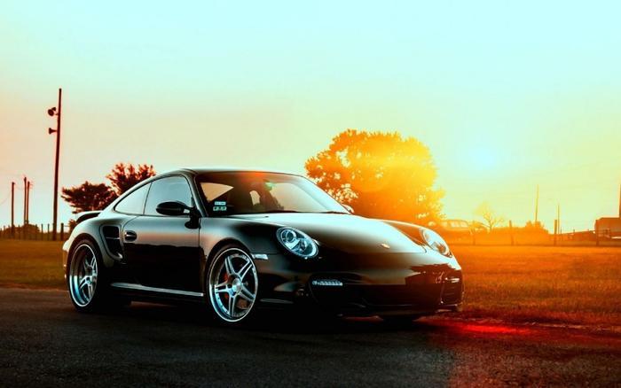 【売れ筋】絵画風 壁紙ポスター (はがせるシール式) ポルシェ 911 GT3 ターボ 997型 2010年 ブラック キャラクロ P997-004W1 (ワイド版 921mm×576mm) 建築用壁紙+耐候性塗料 インテリア
