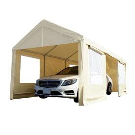 ガレージテント 3×6m 車庫テント サイドパネル 窓付き メッシュ イベント キャンプ アウトドア タープテント CANOPY スチールフレーム カーポート 車庫 6m×3m ###車庫テント0106◇###