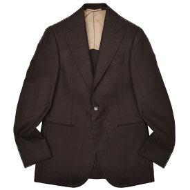 Stile Latino(スティレ ラティーノ)ラムズウール カシミヤ ヘリンボーン ピークドラペル シングル2Bジャケット