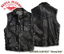 "【SKULL FLIGHT/スカルフライト】ベスト/LEATHER CLUB VEST ""Sheep Skin"" /SFV19-002 ★REALDEALSKU..."