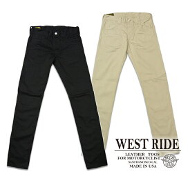 "【WESTRIDE ウエストライド】ボトム/WR105 SKINNY PANTS ""SATIN"" ★REAL DEAL"