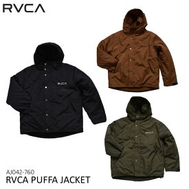 ルーカ 中綿ジャケット AJ042-760 RVCA PUFFA JACKET アウター RVCA ユニセックス テープロゴ [88819fw]