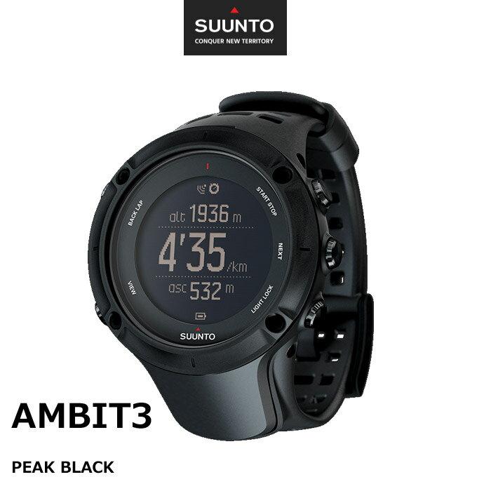 スマートウォッチ 時計 正規品 SUUNTO GPSウォッチ 腕時計 AMBIT3 PEAK BLACK スント アンビット3 超特価!