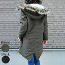モッズコート レディース 軽い 暖かい コート レディース フード ミリタリーコート キルティン 袖リブ R&F 12-15.