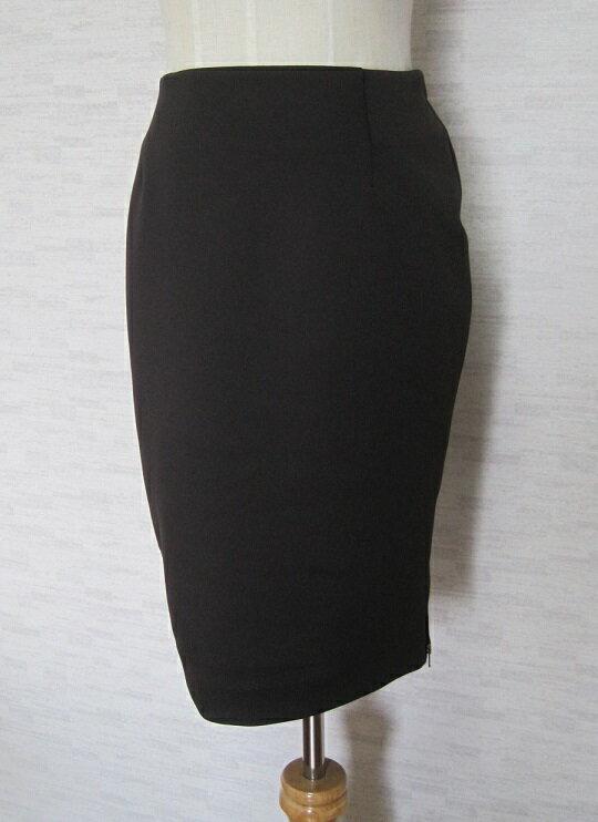 新品YLANG YLANG【イランイラン】裾ジップデザインプレーンスカートSブラウン【中古】