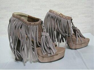 ESPERANZA fringe sandals pink M(23cm)