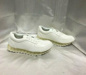 ESPERANZA Shoo race rubber sneakers sole clear white S (22cm - 22.5cm)