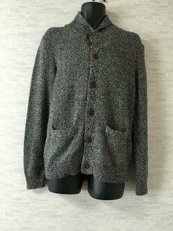 Levi's围巾编织物对襟毛衣丝瓜襟杢灰色人