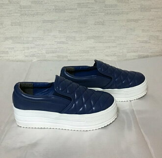 ESPERANZA blue kilt slip-ons L (24cm - 24.5cm)