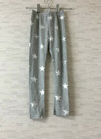 【新古品】Peach&cream【ピーチアンドクリーム】韓国子供服星柄グレーレギンス11(120cm)【中古】