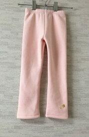 【新古品】Peach&cream【ピーチアンドクリーム】韓国子供服レギンス裏フリースピンク7(100cm)【中古】
