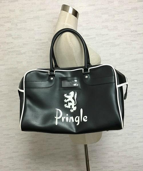 PRINGLE OF SCOTLAND【プリングル オブ スコットランド】ボストンバッグスポーツバッグ黒白【中古】