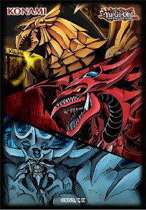 遊戯王 カードスリーブ 50枚入り [オシリスの天空竜&オベリスクの巨神兵&ラーの翼神竜/Slifer the Sky Dragon, Obelisk the Tormentor, The Winged Dragon of Ra] June 2021 Card Sleeves
