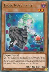 遊戯王 LED4-EN024 闇薔薇の妖精 Dark Rose Fairy (英語版 1st Edition レア) Legendary Duelists Sisters of the Rose