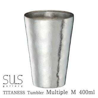 "Titans tumbler multiple M mirror [name put ""(Titan Cup/beer / sake Cup / glass vacuum insulated tumbler)"