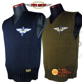 "TOYSMcCOY MILITARY KNIT VEST""RED CROSS A.A.F.""トイズマッコイ ミリタリーニットベストNo.TMK1801【RED CROSS A.A.F.】"