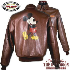"TOYS McCOY TYPE A-2 ROUGH WEAR CLOTHING CO. RUSSET BROWN ""MICKEY MOUSE""Style No./TMJ1704【FULL CUSTOM】"