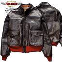 TOYS McCOY【トイズマッコイ A-2ジャケット】 レザー フライト ジャケット 赤リブ ラフウエア