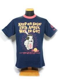 """トイズマッコイ tシャツ TOYS McCOY REAL MOON×TOYS McCOY COLLABO HENLY TEE """"15th ANNIVERSSARY""""No.TMC1139"""