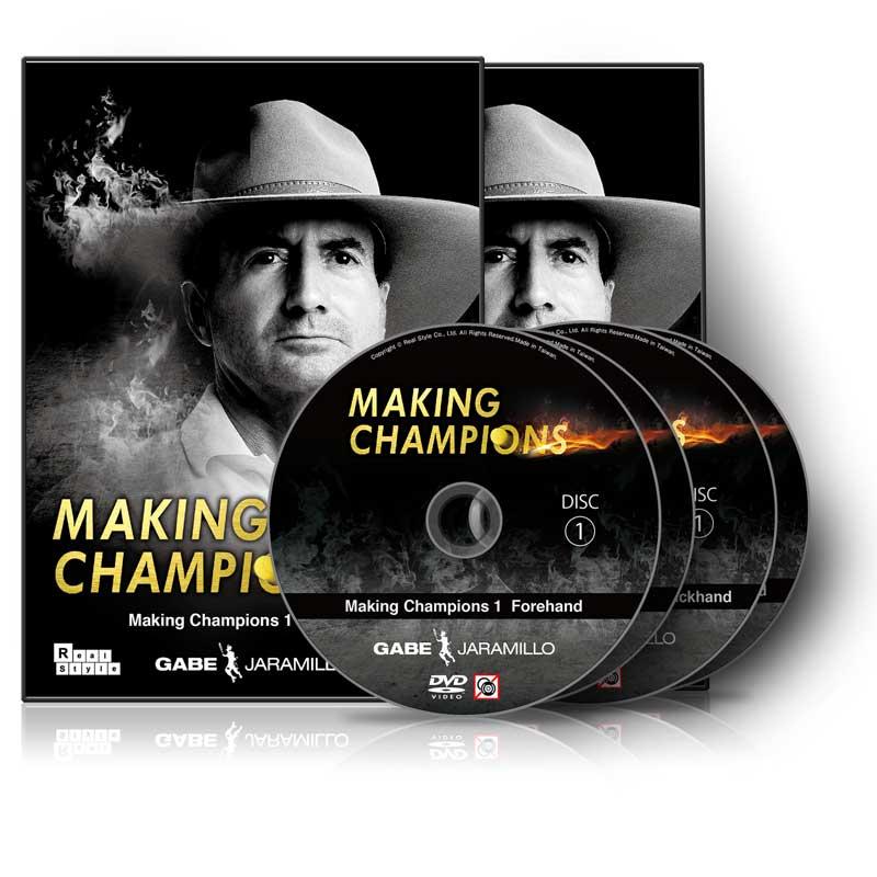 ゲイブ・ハラミロの『Making Champions』 Vol.1 -フォアハンド- & Vol.2 -両手打ちバックハンド- ☆【送料無料】